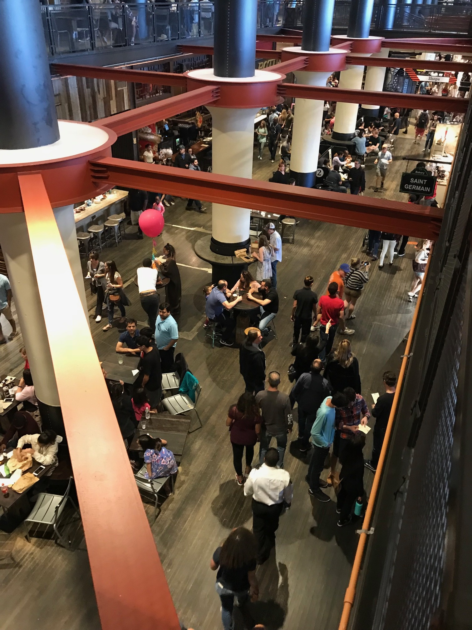 Ponce City Market is a popular place on weekend to meet up with friends.