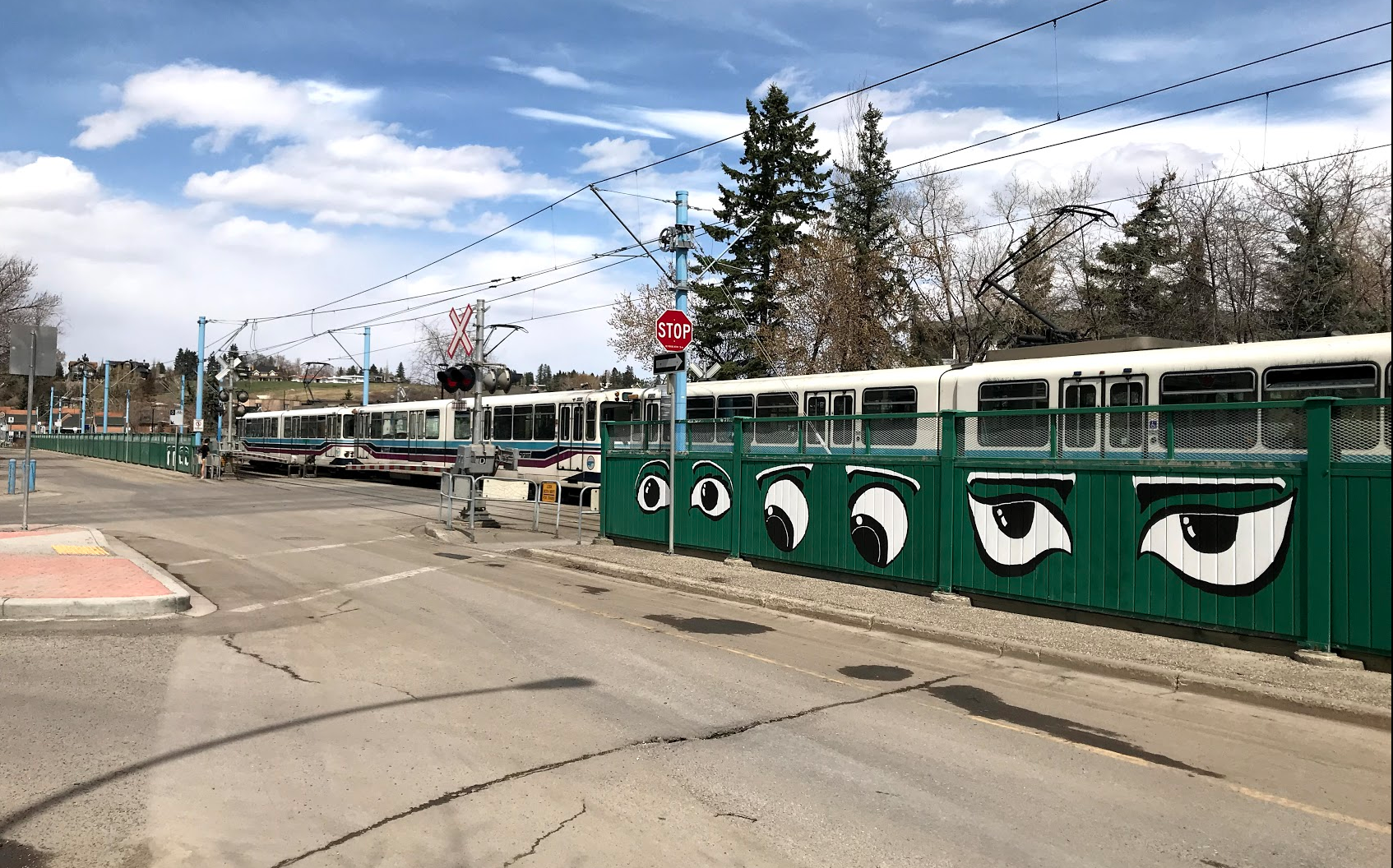 "Calgary also has a budding street art culture. This piece ""Eyes on the Street"" was done by a teenager who lives in the Hillhurst/Sunnyside community."