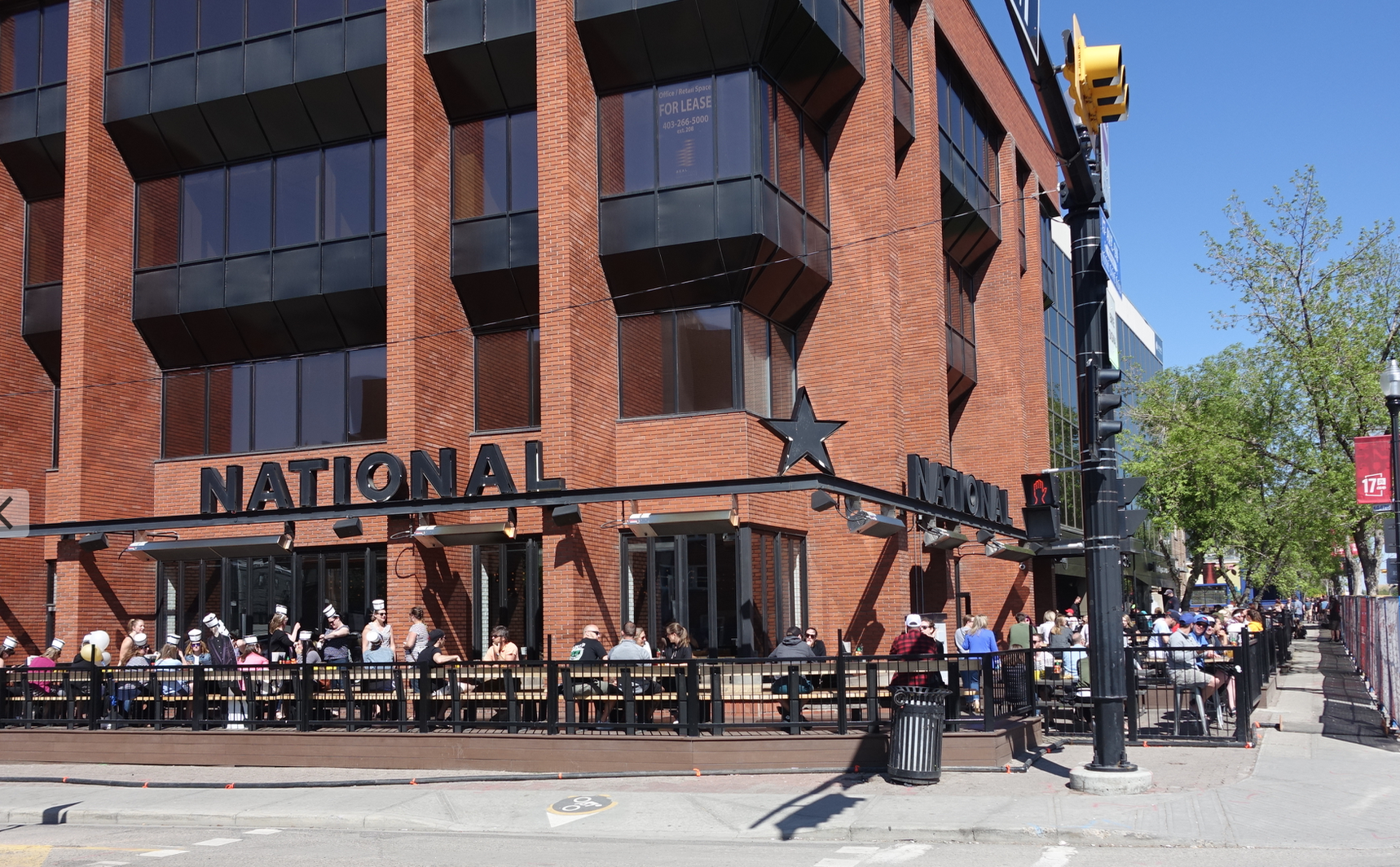 17th Avenue is lined with pubs and patios.