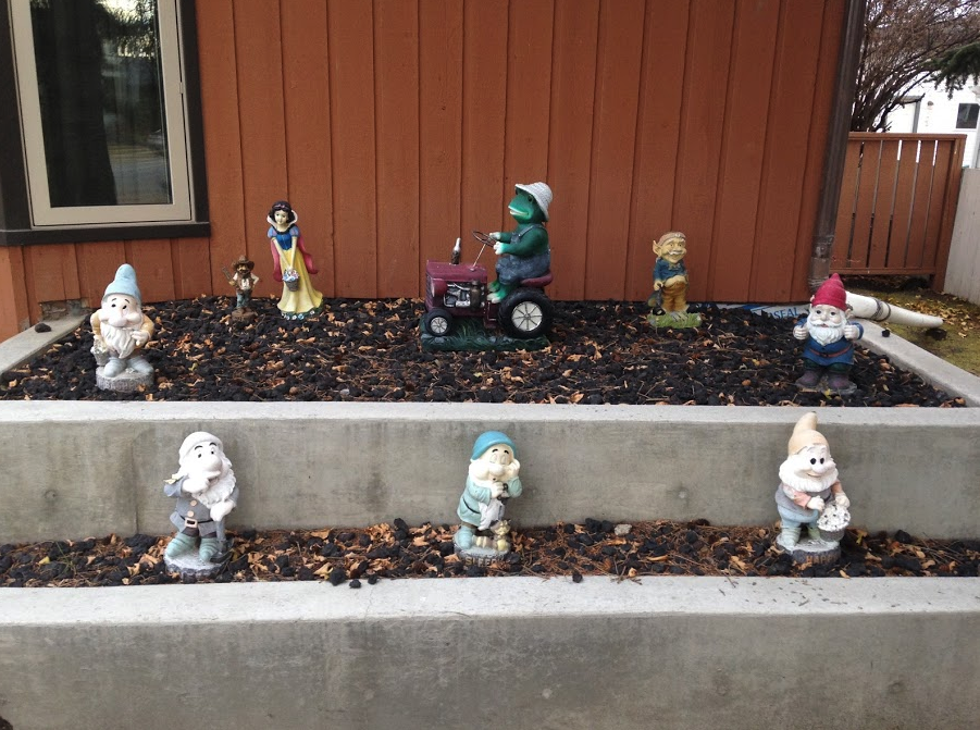 We might not have a giant blue ring, but we have lots of little gnomes.