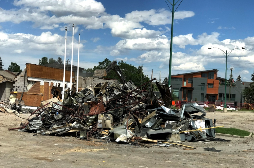 The old Kensington Legion is gone, soon to be replaced by a mid-rise condo with main floor retail.  This will be a game changer for our community.