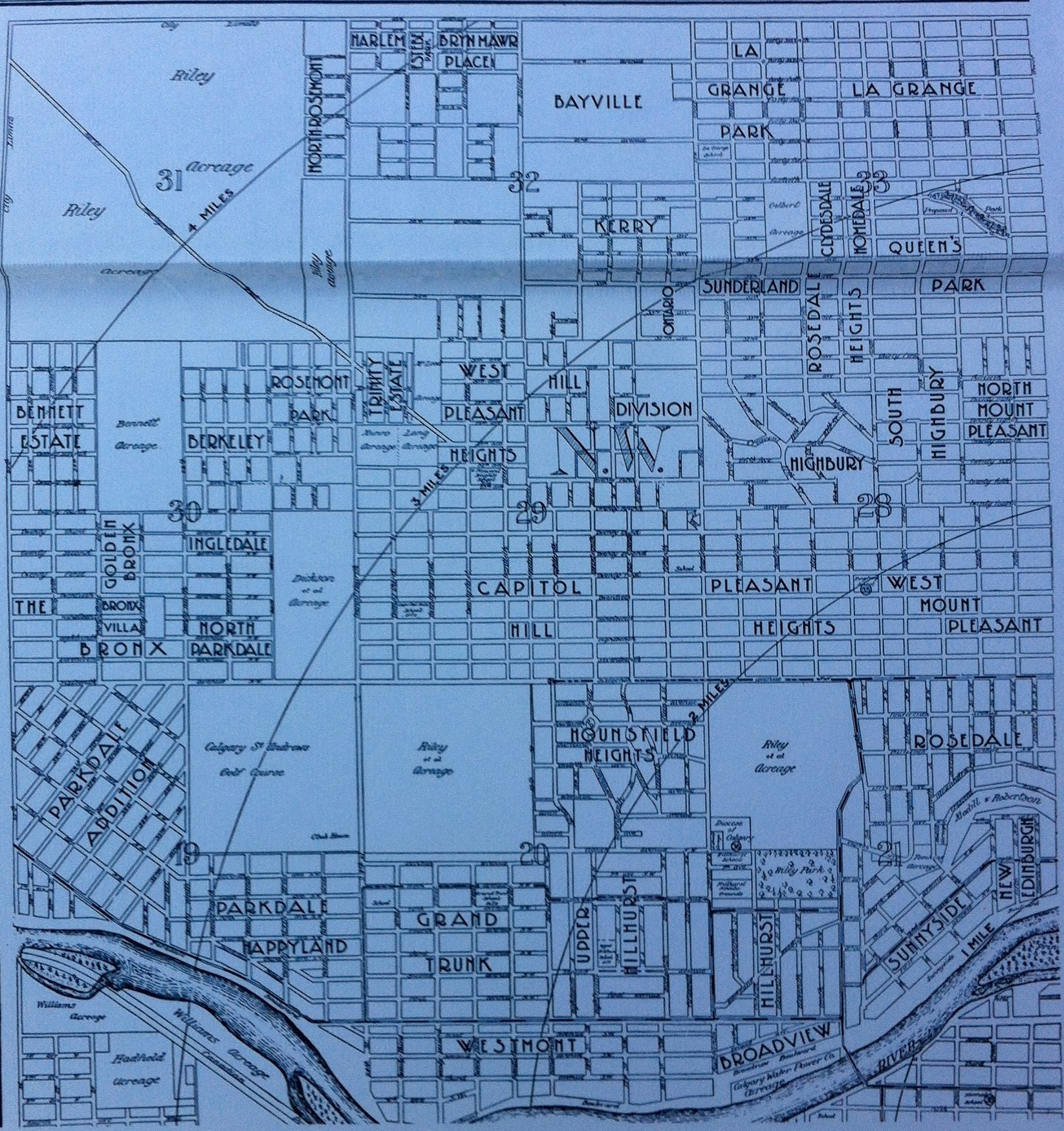 A map from the early 20th century illustrates how the boundaries and names of the neighourhoods have changed.  I love the name Parkdale Happyland, perhaps we should bring it back.