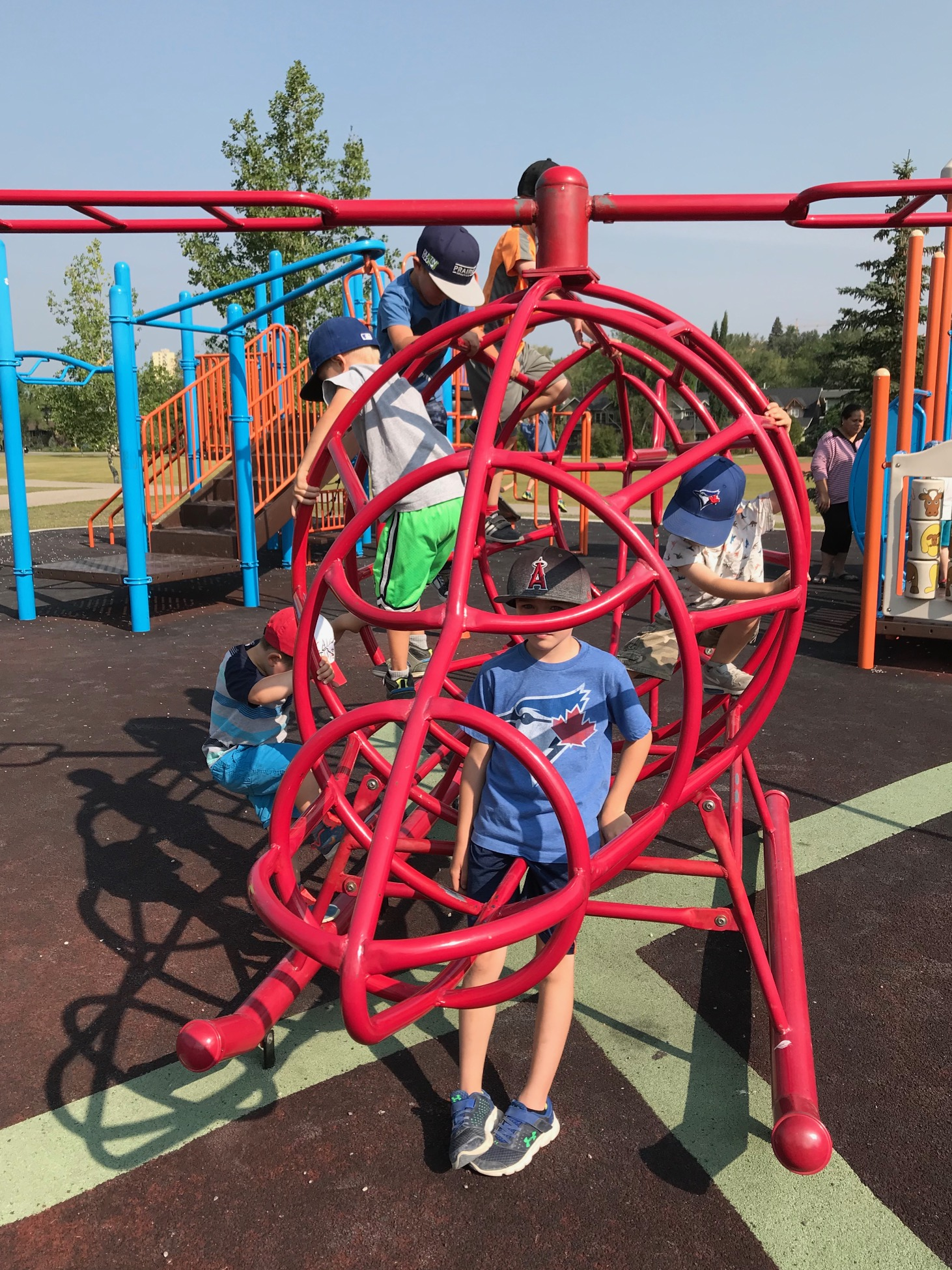 Helicopter Park in West Hillhurst is just one of hundreds of funky new neighbourhood playgrounds in Calgary.    Calgary has something like 1,200 city playgrounds for 185 neighbourhoods and that doesn't include school playgrounds.