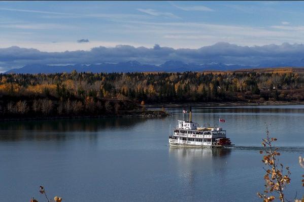 S.S. Moyie on Calgary's Glenmore Reservoir.