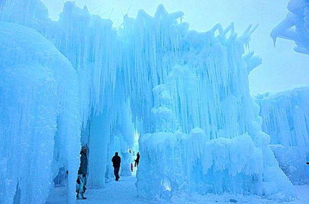 Ice Castles in Edmonton's Hawrelak Park.