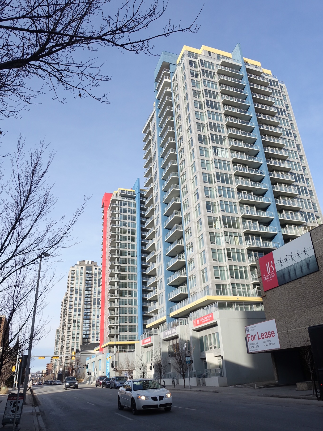 Calgary's Beltline's streets are lined with new residential buildings with several more under construction. It is one of the City's fastest growing neighbourhoods.