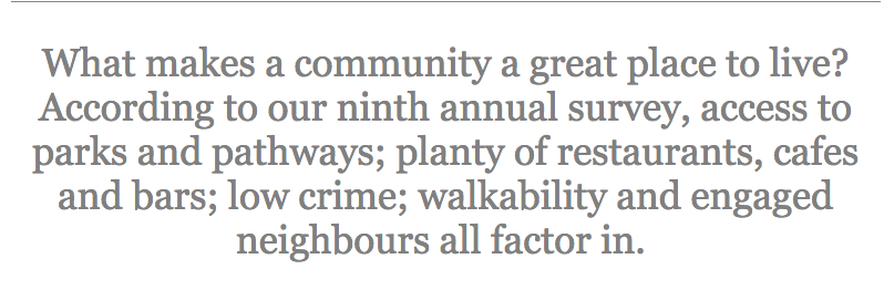 From Avenue Magazine's 2018 ranking of Calgary neighbourhoods.