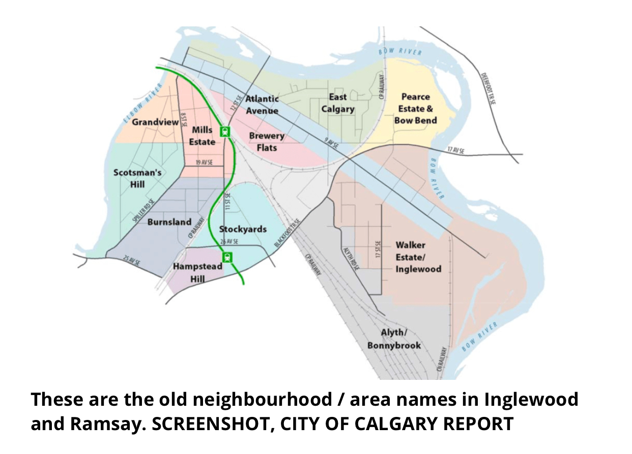 This map was posted on Twitter recently, indicating that Inglewood Ramsay was once 12 different neighbourhoods.