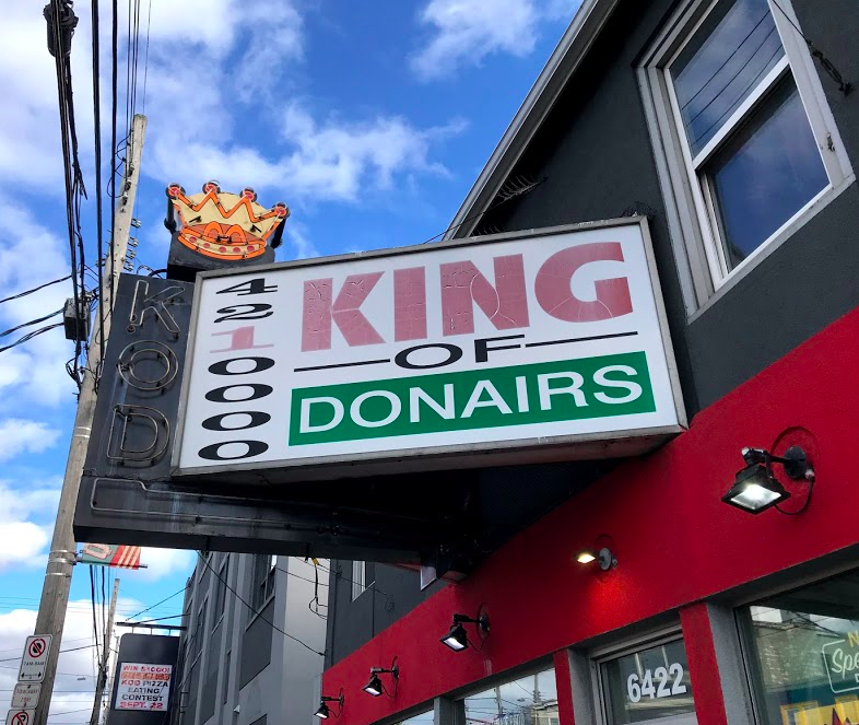 The donair is Halifax's official food and the King of Donair on Quinpool is where it all started in 1973. The King is expanding into Western Canada as you read this….
