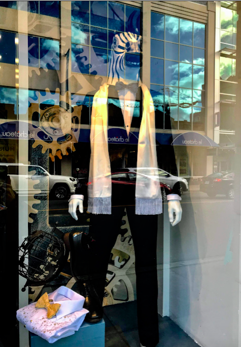 I was most impressed with the windows of Dugger's Menswear shop, they could have easily of been an art installation in a contemporary art gallery.