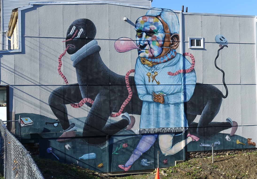There were not a lot of murals in Halifax, but there were a few and they were not just decoration or upscale graffiti.