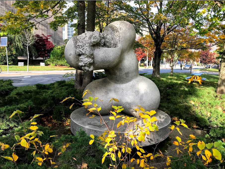 "While flaneuring the campus of Dalhousie University we found this phallic piece by Robert Hedrick titled ""Marine Venus"" standing proudly in the boulevard of University Drive. Obviously, Dal (as locals call the university) is not afraid of a little controversial art."
