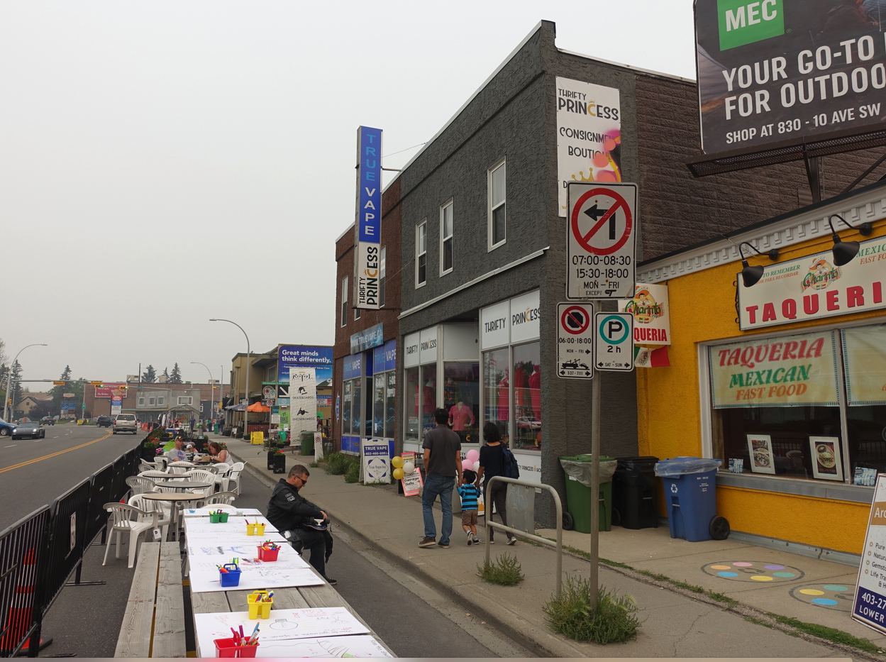 Edmonton Trail has huge potential to become a vibrant pedestrian street.