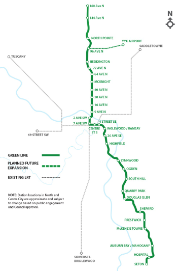 The new Green Line will add a new dimension to the Centre City as it passes underground through downtown.