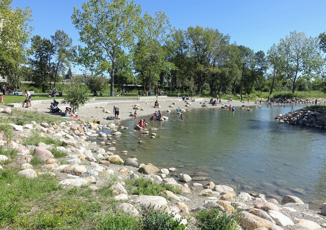St. Patrick's Island's pebble beach is popular with families