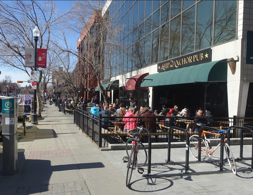 Ship & Anchor's patio on 17th Ave is busy year-round….