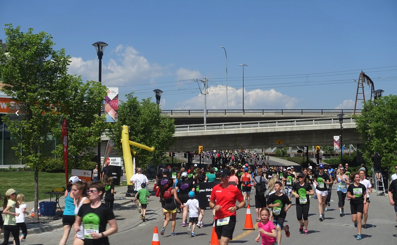 Calgary's love to run in the streets….