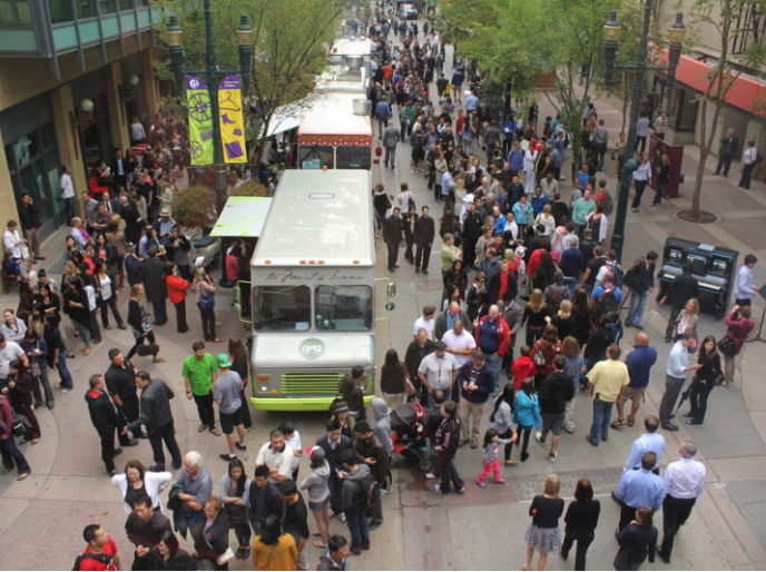 Food Trucks on Stephen Avenue Walk.