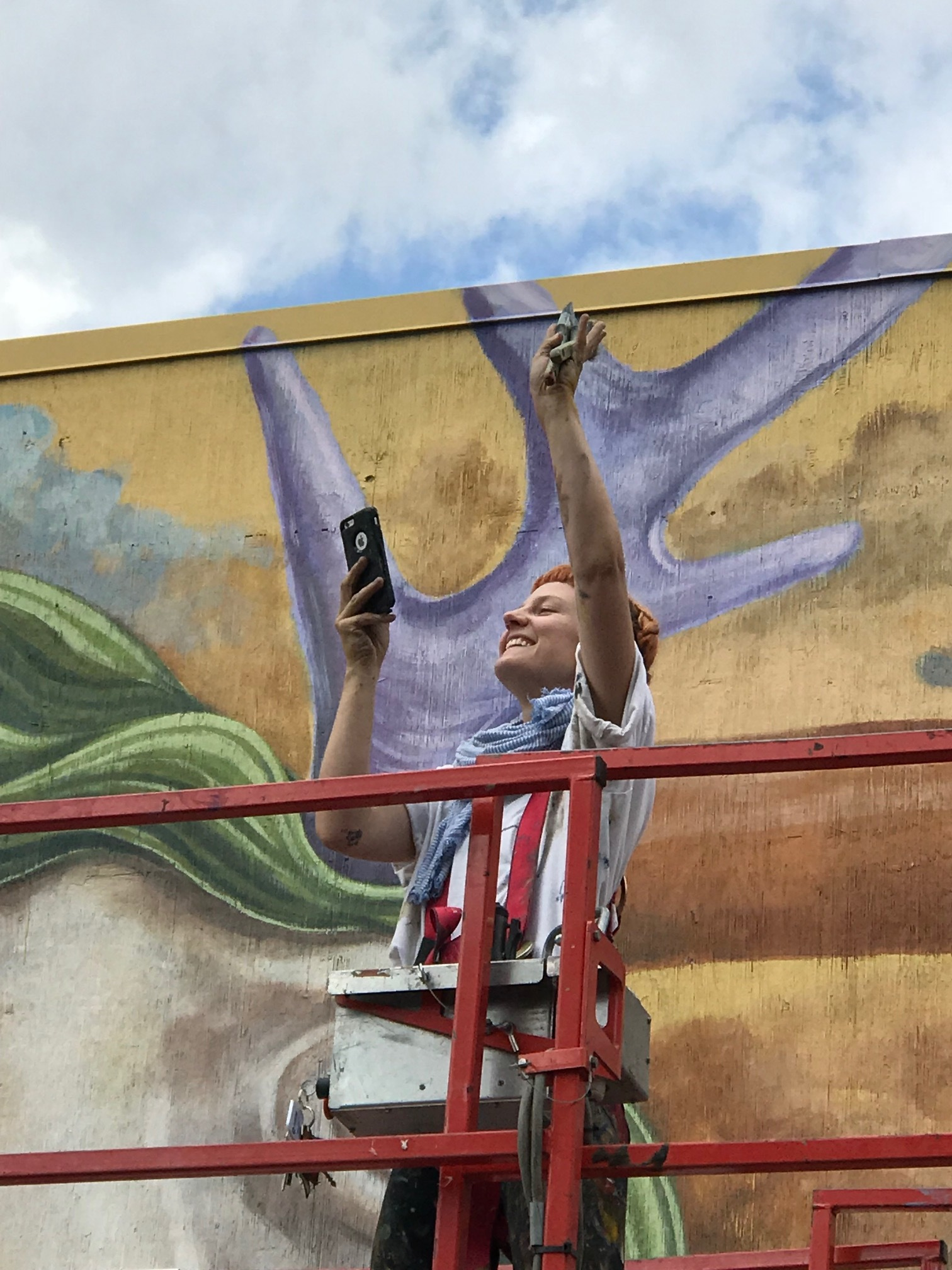 "I didn't remember taking this photo while on a walking tour of BUMP (Beltline Urban Mural Program). But when I got home and was flaneuring the photos I took that day I discovered this one and immediately thought ""this could be the definitive portrait of happiness in the 21st century."""
