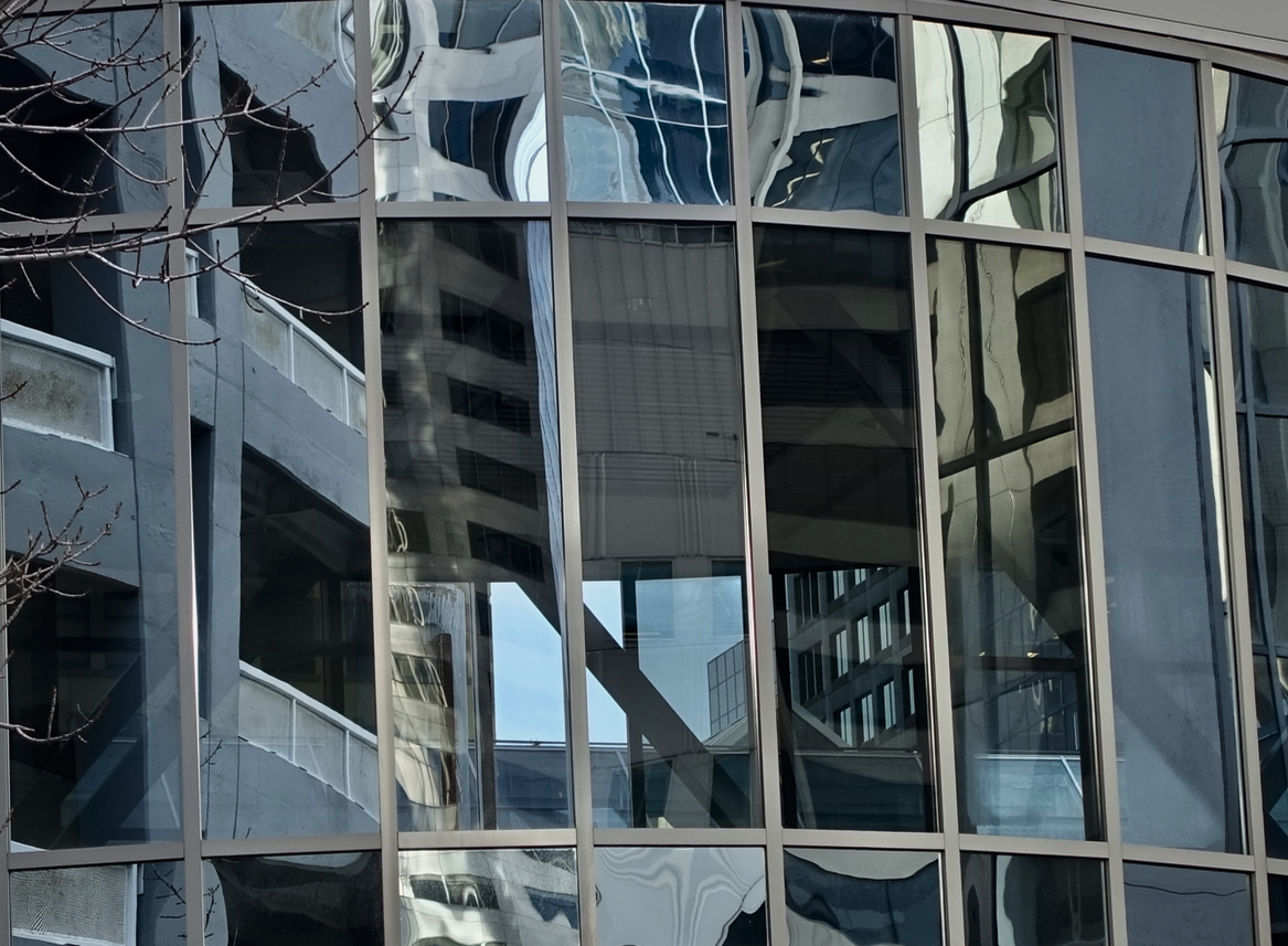 Speaking of windows, I love the giant abstract / surrealistic art created by the reflections in glass facades of contemporary office towers every time I wander downtown. They are like giant Dali paintings.