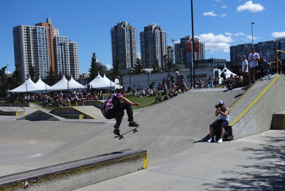 Calgary is his home to one of the world's largest public skate parks.