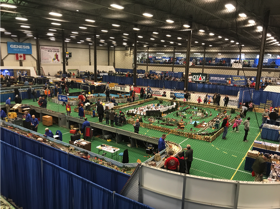 Large facilities like the Genesis Field House not only host sporting event, but events like the annual mega Train Show that takes over the entire facility.