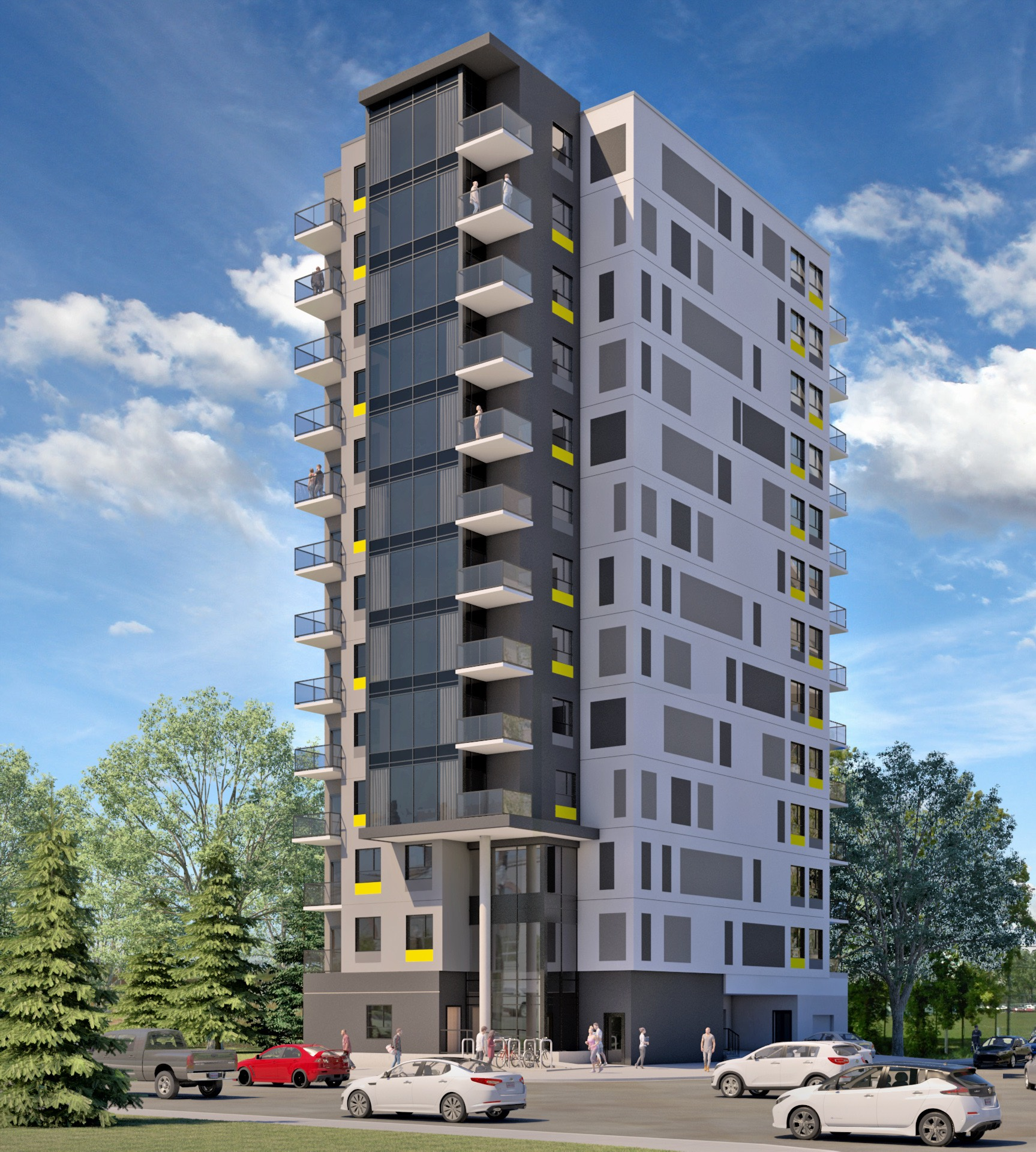The Nest in Mission will offer waterfront living (Elbow River) at very attractive prices, partly because there are no parking stalls for tenants. This is truly urban living.