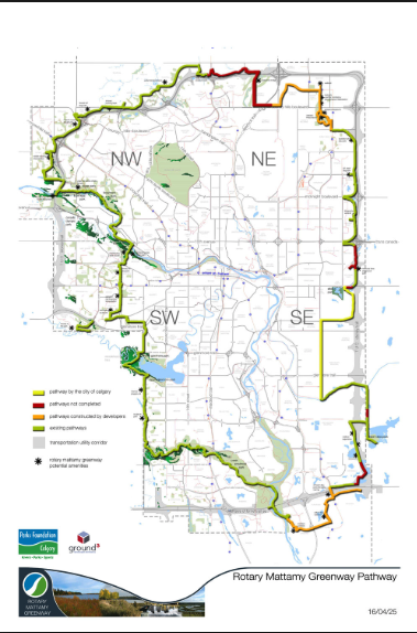 Calgary's 131 km Rotary Mattamy Greenway is a unique recreational experience.