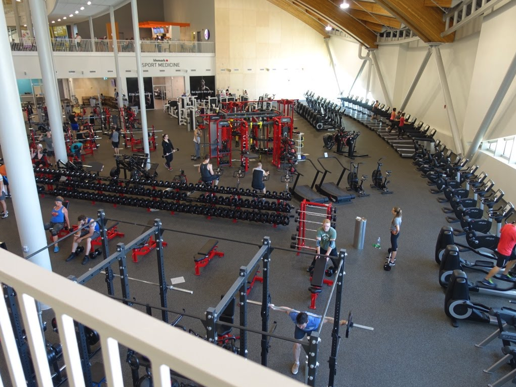 In addition to hundreds of private gyms across the city, the new mega recreation centres also have mega workout rooms that are use by all ages.