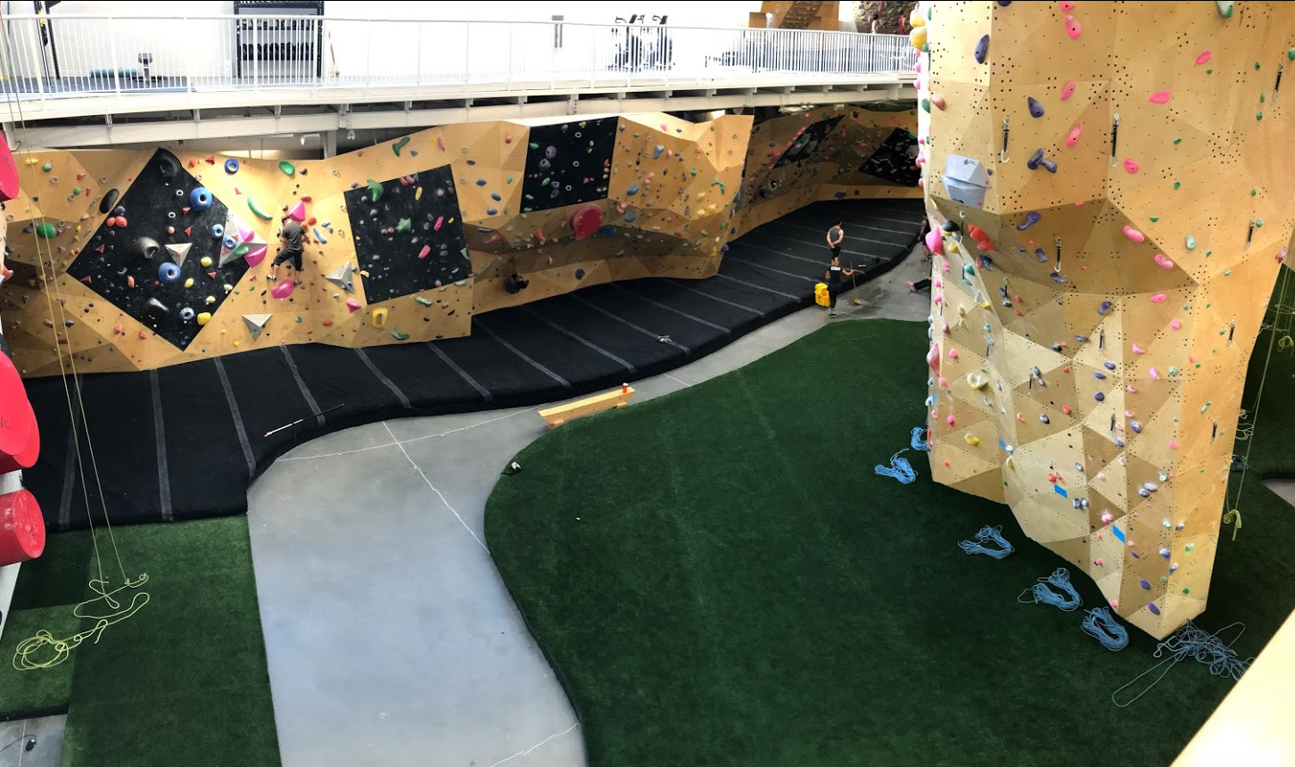 Calgary is also home to numerous specialize private recreational facilities like this major climbing centre. Facilities like this didn't exist in Calgary or any Canadian city 40 years ago.