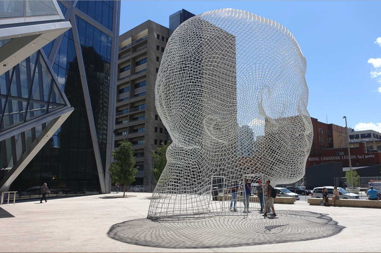 I didn't find anything in Edmonton to match Calgary's public art.