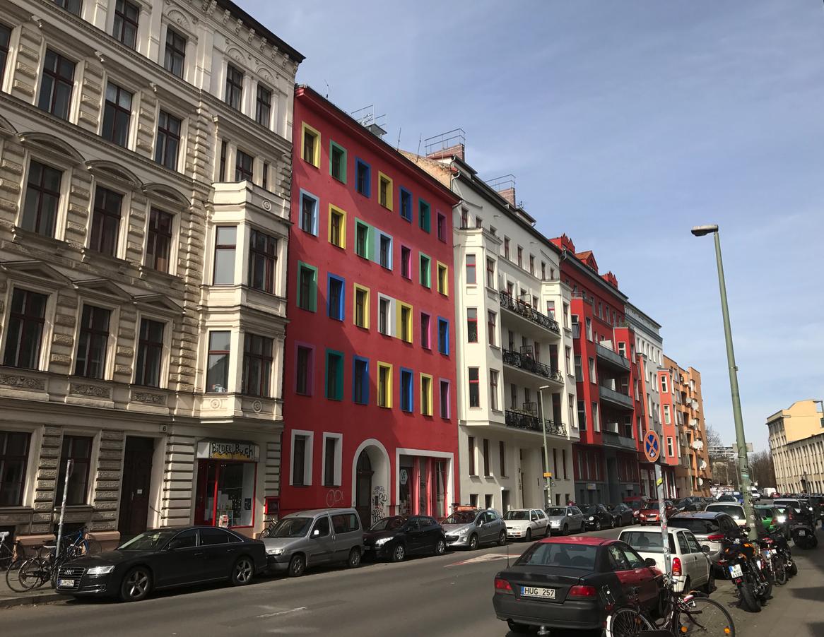 Berlin mid-rise residential street.