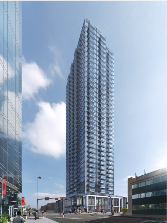 Strategic Group's One residential tower on the east side of the Beltline is under construction.
