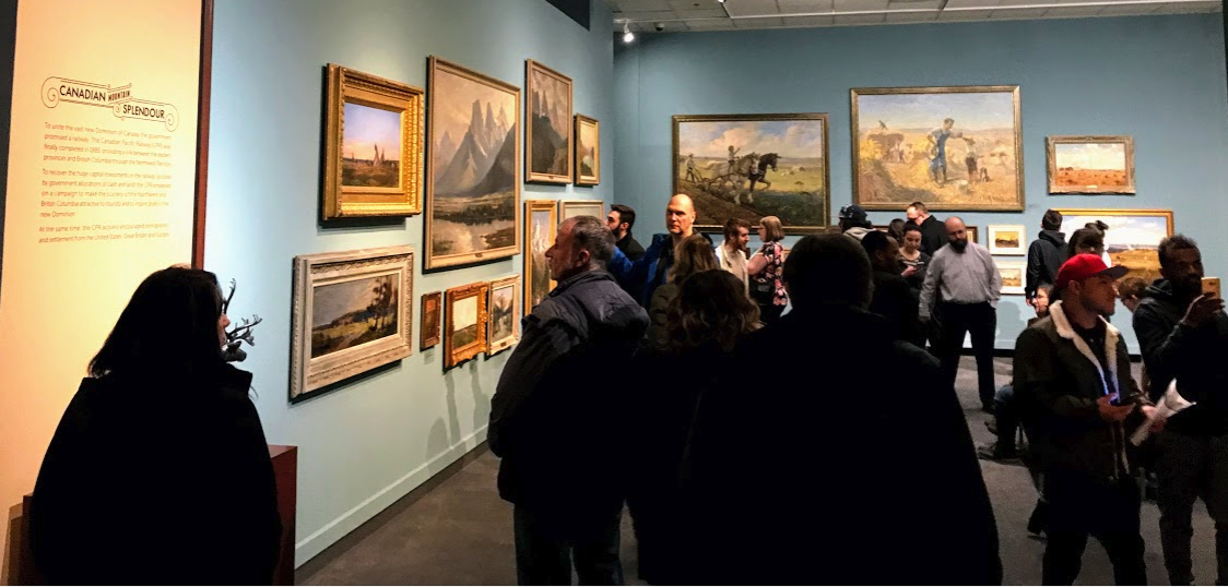 At any given time the Glenbow's second floor art gallery offers several exhibitions on different aspect of the visual arts, from historical to contemporary.