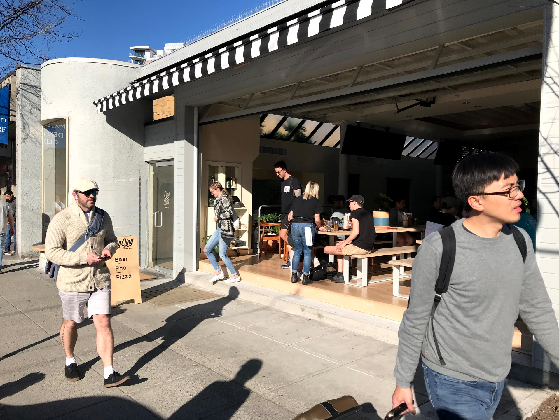 Sing Sing Beer Bar is a great spot for people watching and catching some afternoon rays…we certainly enjoyed their Happy Hour!