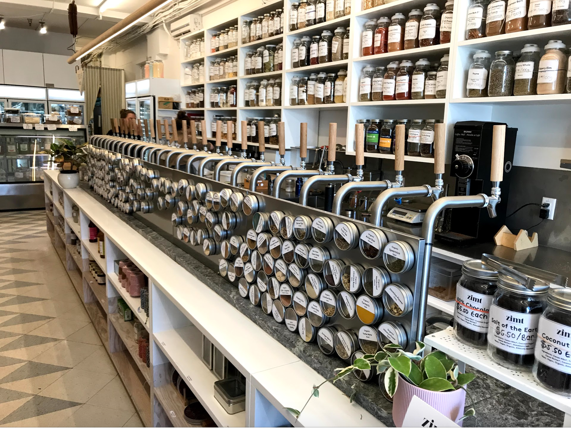 The Soap Dispensary and Kitchen Staples offers a wide array of natural products. No those are not beer taps.