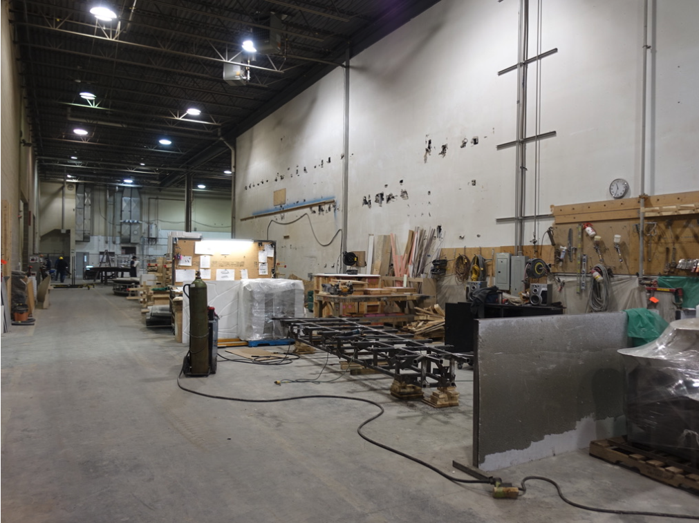 One of the many huge work spaces at Heavy Industries.