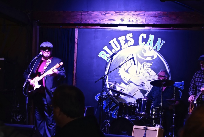 Tim Williams hosts the Saturday Blues Jam at the Blues Can. Wiliams won the 2014 International Blues Competition in Memphis not only as the best solo/duo performer, but as best guitarist.