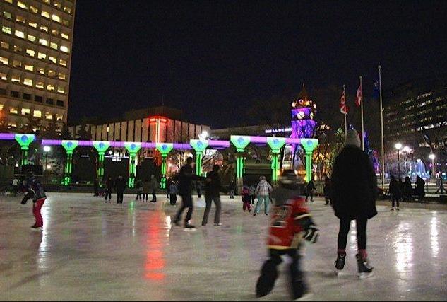 Olympic Plaza skating fun (photo credit: todoCanada)