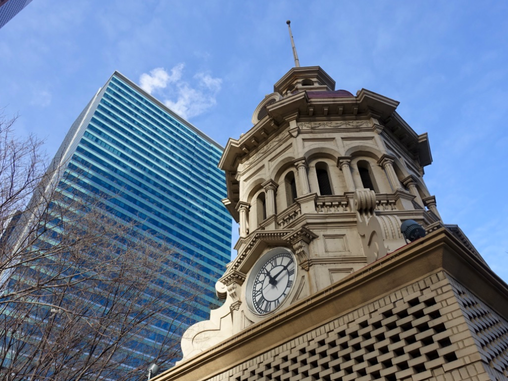 Walk around downtown and you will discover an intriguing mix of old and new architecture.