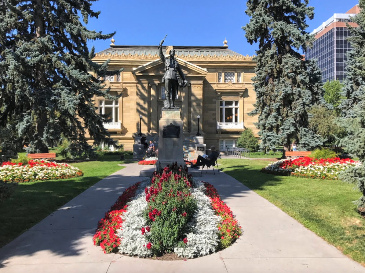 Memorial Park Library is just one of dozens of historic sandstone buildings in Calgary's City Centre.