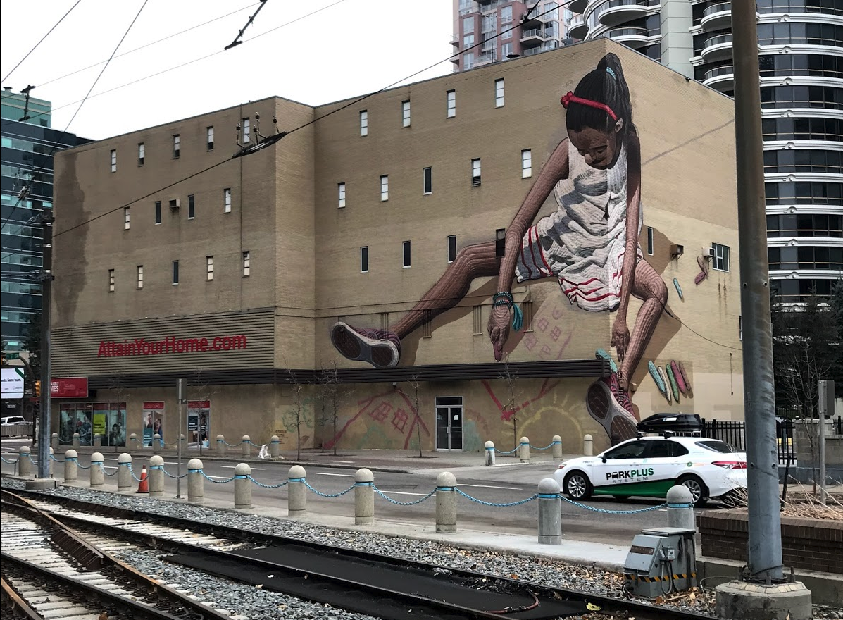 There are numerous murals and street art scattered throughout Calgary's City Centre, making it an outdoor art gallery.
