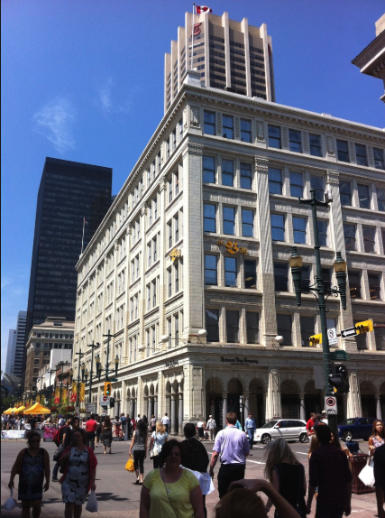 The Hudson's Bay Company department store is the jewel of the Stephen Avenue Historic District..