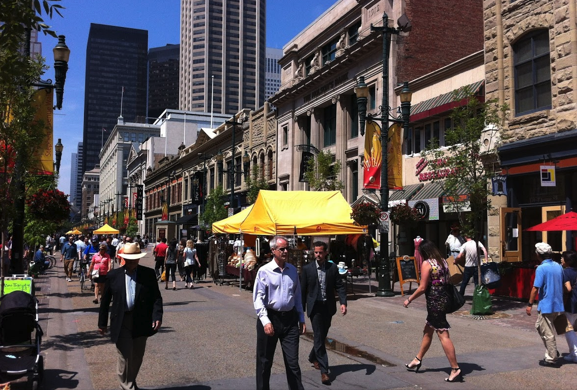 Stephen Avenue Walk (8th Avenue from 1st St SE to 3rd St SW) is lined with historical buildings from the early 20th century.