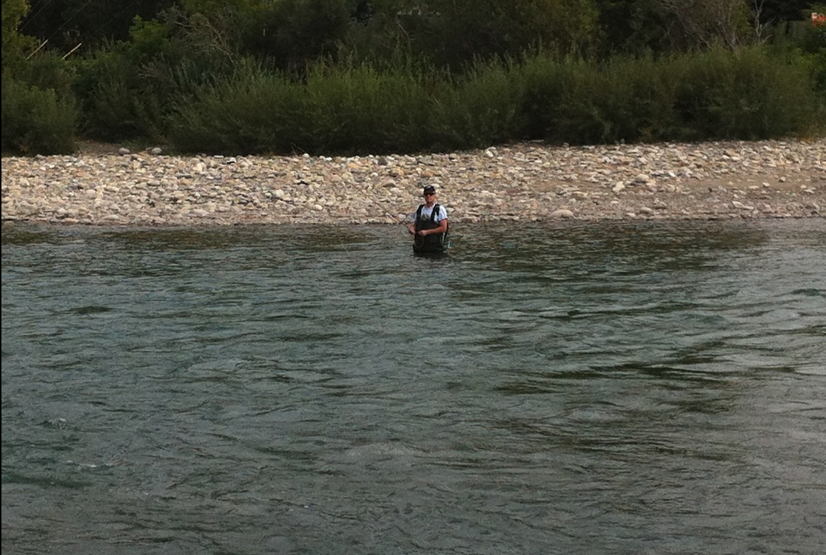 Free fly fishing along the Bow River - bring your equipment!