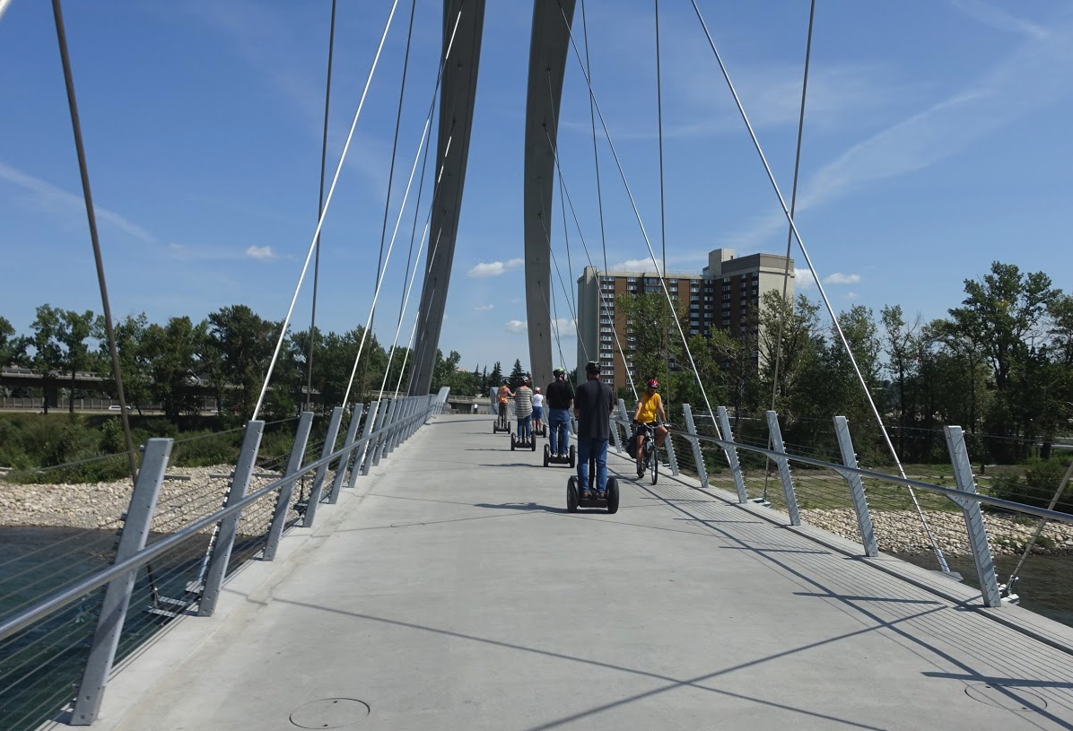 East Village pedestrian bridge