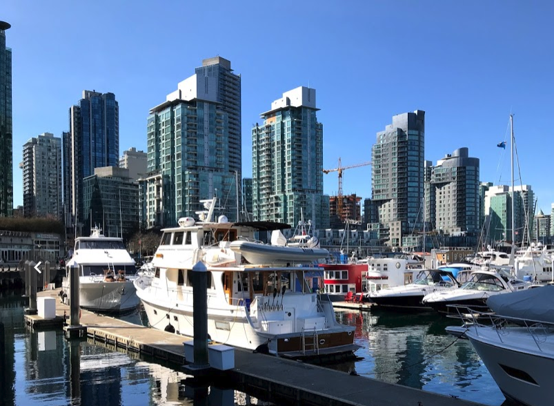 Vancouver's Coal Harbour is a boater's paradise.
