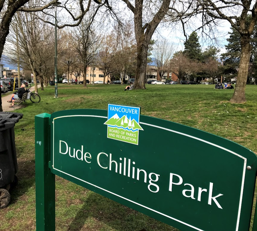 Dude Chilling Park is just one of many parks and public spaces that makes Vancouver's City Centre one of the best places in North America for urban living.