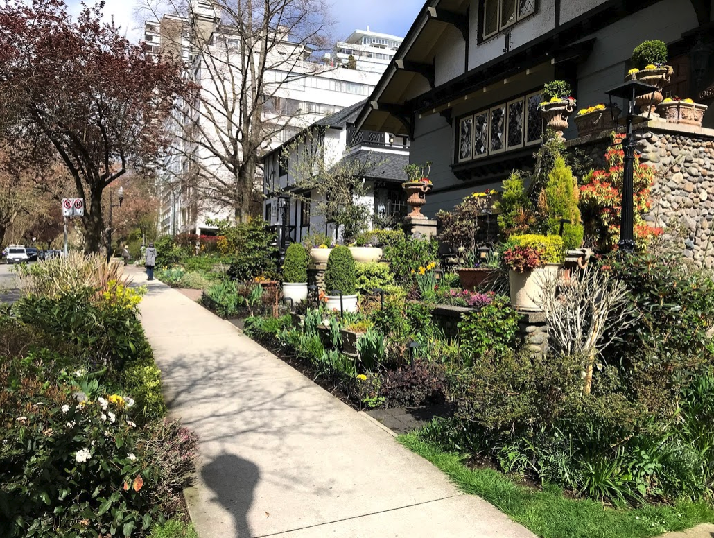 Vancouver's West End streets not only have lovely tree canopies, but also enchanting front yards that gives it a very residential sense of place.