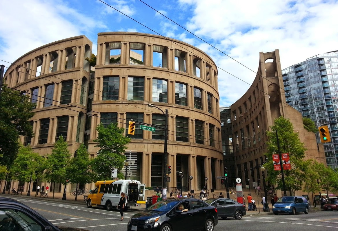Vancouver's signature central library in Yaletown.